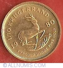 Image #2 of 1/10 Ounce 1980