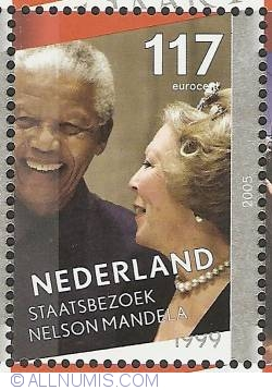 Image #1 of 117 Eurocent 2005 - Queen Beatrix Silver Jubilee - State Visit Nelson Mandela 1999