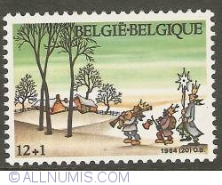 Image #1 of 12 + 1 Francs 1984 - Christmas - Evocation of Epiphany