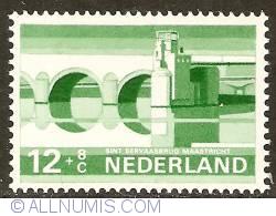 Image #1 of 12 + 8 Cent 1968 - Maastricht - St. Servaas Bridge