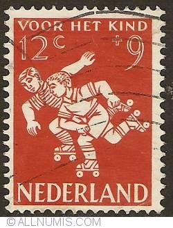 12 + 9 Cent 1958 - Rollerskating