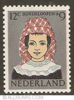Image #1 of 12 + 9 Cent 1960 - costume of Hindeloopen