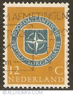 Image #1 of 12 Cent 1959 - 10th Anniversary of NATO
