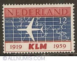 Image #1 of 12 Cent 1959 - K.L.M.