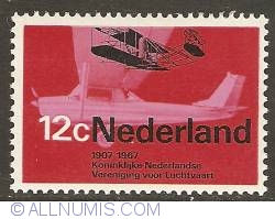 Image #1 of 12 cent 1968 - Royal Dutch Society for Aviation