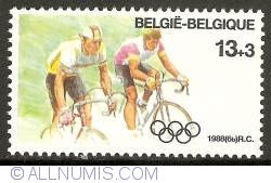 Image #1 of 13 + 3 Francs 1988 - Olympics Seoul - Cycling