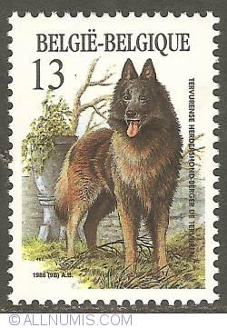 Image #1 of 13 Francs 1986 - Belgian Sheperd Dog (Tervuren)