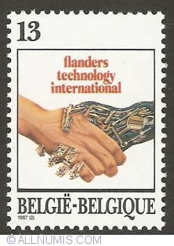 Image #1 of 13 Francs 1987 - Flanders Technology International