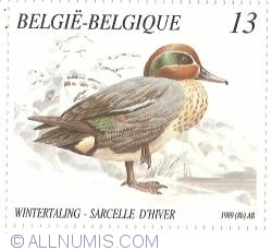 Image #1 of 13 Francs 1989 - Eurasian Teal