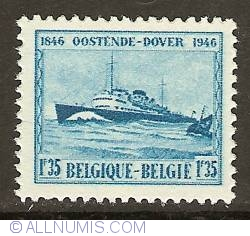 Image #1 of 1,35 Francs 1946 - Mailboat Prince Baudouin