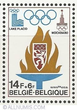 Image #1 of 14 + 6 Francs 1978 - Olympics 1980