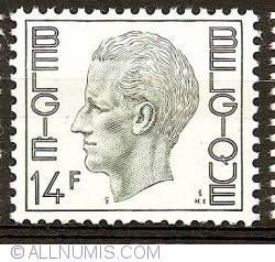 Image #1 of 14 Francs 1976 Baudouin I