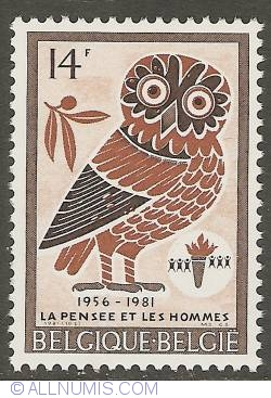 Image #1 of 14 Francs 1981 - Owl