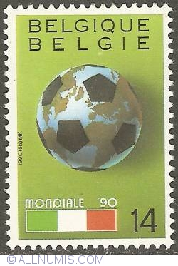 Image #1 of 14 Francs 1990 World Cup Soccer Italy