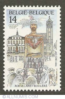 Image #1 of 14 Francs 1991 - Roeselare - Giant Rolarius