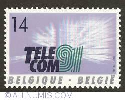14 Francs 1991 - Telecom 91
