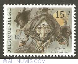 Image #1 of 15 + 3 Francs 1992 - Les Macrales (witches)