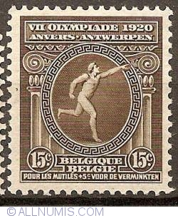 Imaginea #1 a 15 + 5 Centimes 1920 - Olympic Games Antwerp
