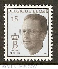 Image #1 of 15 Francs 1993 - Death of King Baudouin