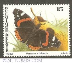 Image #1 of 15 Francs 1993 - Vanessa Atalanta