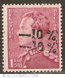 Image #1 of 1,50 Franc 1946 with overprint -10%
