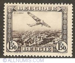Image #1 of 1,50 Francs 1930 - Airmail - Plane above St. Hubert