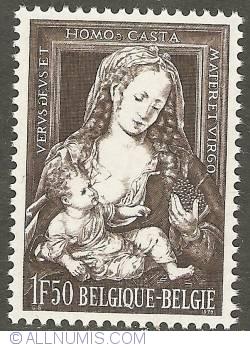 Image #1 of 1,50 Francs 1970 - Christmas - Jan Gossaert - Virgin and Child