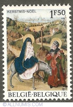 1,50 Francs 1971 - Christmas - The Flight to Egypt