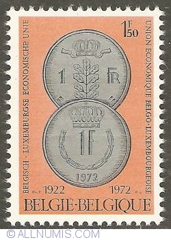 Image #1 of 1,50 Francs 1972 - Belgium - Luxemburg Economic Union