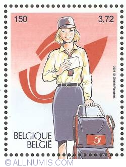 150 Francs / 3,72 Euro 2001 - Postman of Today