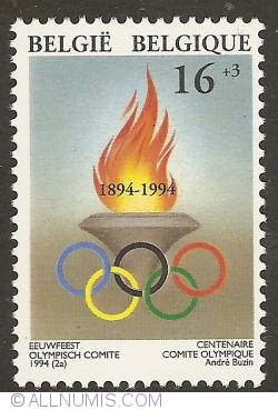 Image #1 of 16 + 3 francs 1994 - Centennial of Olympic Committee