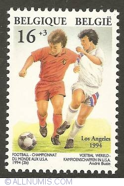 Image #1 of 16 + 3 Francs 1994 - World Championship Soccer in Los Angeles