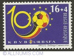 Image #1 of 16 + 4 Francs 1995 - Centennial of the Royal Belgian Soccer Ligue