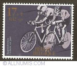 Image #1 of 17 + 4 Francs / 0.42 + 0.10 Euro 2001 - Cycling