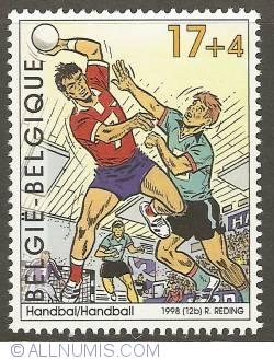 Image #1 of 17 + 4 Francs 1998 - Handball