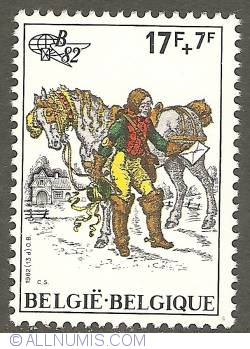 Image #1 of 17 + 7 Francs 1982 - Imperial Courier of 1750