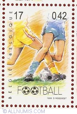 Image #1 of 17 Francs / 0.42 Euro 1999 - Football-Soccer