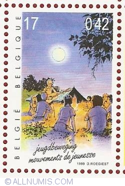 Image #1 of 17 Francs / 0.42 Euro 1999 - Scouting