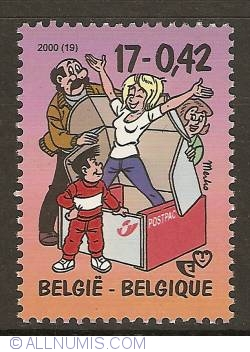 Image #1 of 17 Francs / 0,42 Euro 2000 - De Kiekeboes