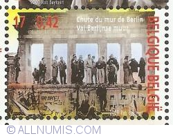Image #1 of 17 Francs / 0,42 Euro 2000 - Fall of the Berlin Wall