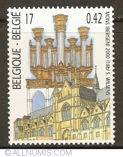 Image #1 of 17 Francs / 0,42 Euro 2000 - Organ from the Church Ste. Waudru - Mons