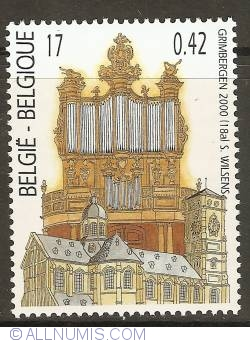 Image #1 of 17 Francs / 0,42 Euro 2000 - Organ from the St. Servatius Basilica - Grimbergen