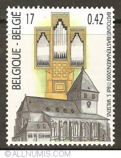 Image #1 of 17 Francs / 0,42 Euro 2000 - Organ of the St. Peterschurch - Bastogne