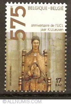 Image #1 of 17 Francs / 0,42 Euro 2001 - 575th Anniversary of the Catholic University of Leuven (Louvain)