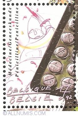 Image #1 of 17 Francs / 0,42 Euro 2001 - Medicine - Penicilline