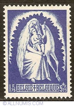 Image #1 of 1,75 + 5,25 Francs 1944 - Genevieve of Brabant