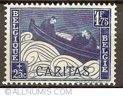 Image #1 of 1,75 Francs+25 Centimes 1927 - Caritas - Boat