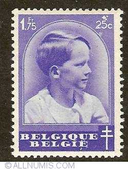 Imaginea #1 a 1,75 Franc + 25 Centimes 1936 - Prince Baudouin