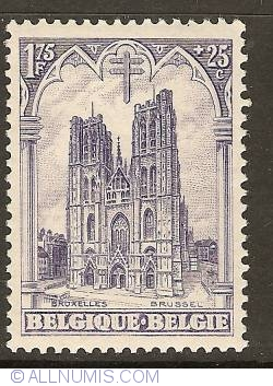 Image #1 of 1,75 Francs + 25 Centimes 1928 - Cathedral St. Michael and Ste. Gudula - Brussels