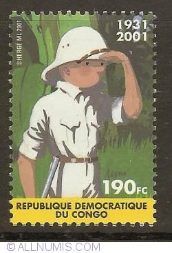 Image #1 of 190 Francs Congolais 2001 - Tintin